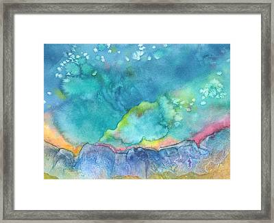 Framed Print featuring the painting Aurora Borealis by Nancy Jolley