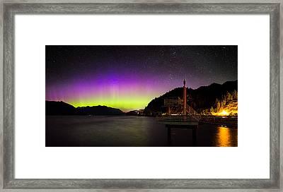 Aurora Borealis Near Vancouver Framed Print by Alexis Birkill
