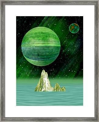 Aurora Borealis Framed Print by Piero Lucia