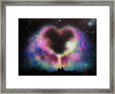Aurora Borealis The Blessing Framed Print