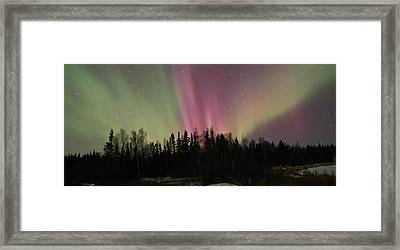 Aurora Burst Framed Print