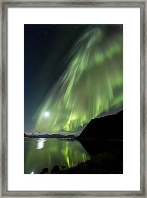 Aurora Flow Framed Print by Frank Olsen