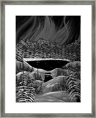 Aurora In Black And White Framed Print by Barbara Griffin