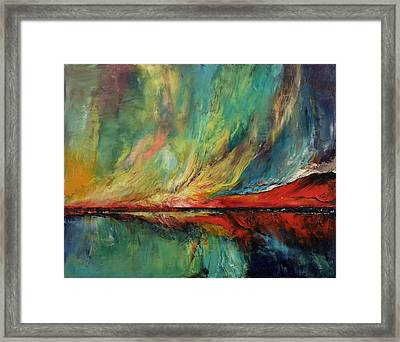 Aurora Dance Framed Print by Michael Creese
