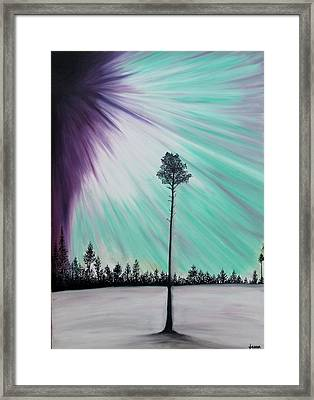 Aurora-oil Painting Framed Print by Rejeena Niaz
