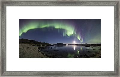 Aurora Panoramic Framed Print by Frank Olsen