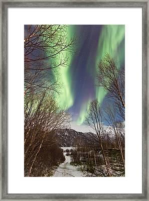 Aurora Road Framed Print by Frank Olsen