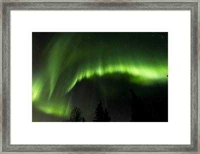 Aurora Scorch Framed Print by Kyle Lavey