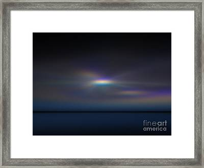 Aurora Sunset Framed Print by Peter R Nicholls