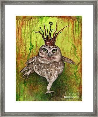 Aurora The Owl Queen Framed Print by Dori Hartley