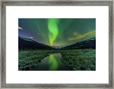 Aurora Valley Framed Print by Kyle Lavey