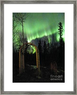Auroral Arch Framed Print