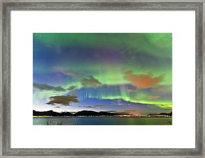 Auroras At Sortland Strait II Framed Print