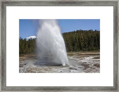 Aurum Geyser Eruption Framed Print