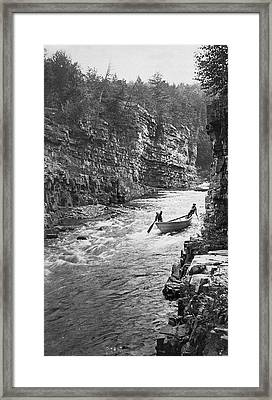 Ausable River Rapids Framed Print by Underwood Archives