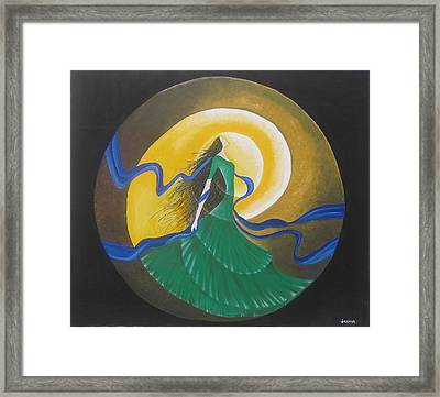 Auspicious Moment-oil Painting Framed Print by Rejeena Niaz