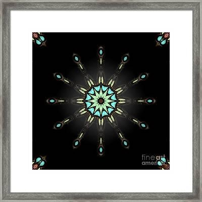 Framed Print featuring the digital art Auspicious Star by Hanza Turgul