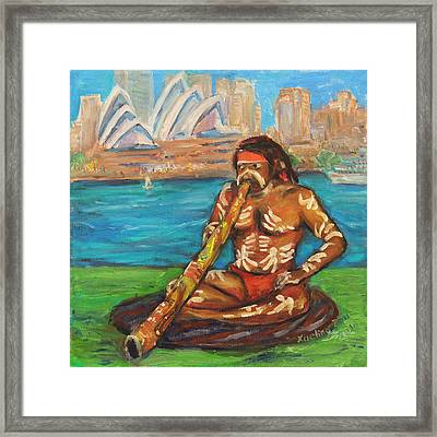 Framed Print featuring the painting Aussie Dream I by Xueling Zou