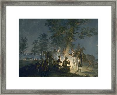 Austerlitz Bivouac, 1805 Framed Print