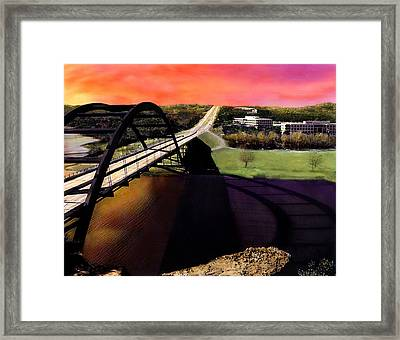 Austin 360 Bridge Framed Print