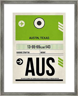 Austin Airport Poster 1 Framed Print by Naxart Studio