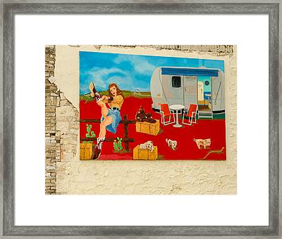 Austin - Camping Mural Framed Print by Allen Sheffield