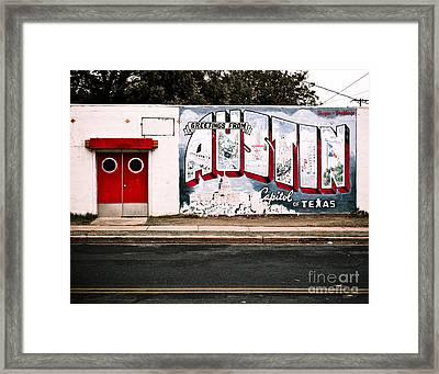 Austin Capital Framed Print by Sonja Quintero