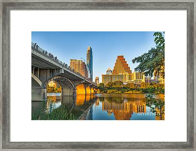 Austin City Glow Framed Print by Tod and Cynthia Grubbs