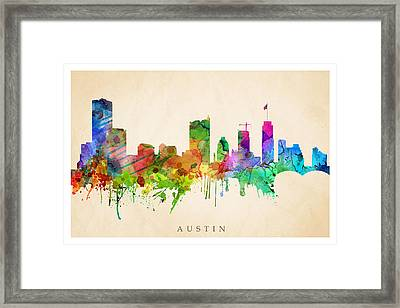 Austin Cityscape Framed Print