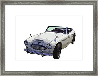 Austin Healey 300 Classic Convertible Sportscar  Framed Print by Keith Webber Jr