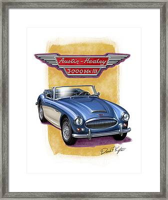 Austin Healey 3000 Blue-white Framed Print