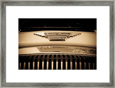 Framed Print featuring the photograph Austin Healey by Erin Kohlenberg