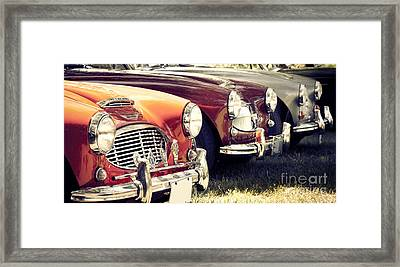 Austin-healey Times Three Framed Print