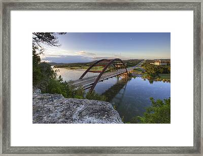 Austin Images - Pennybacker Bridge October Sunrise 2 Framed Print by Rob Greebon