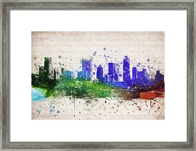 Austin In Color Framed Print by Aged Pixel