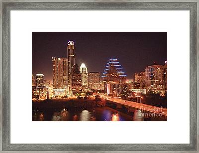 Austin Lights The Night Framed Print