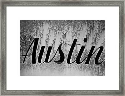 Austin Framed Print by Mark Weaver