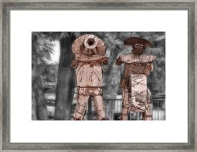 Austin Musical Duo 3 Framed Print by Linda Phelps