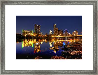Framed Print featuring the photograph Austin On The Rocks by Dave Files