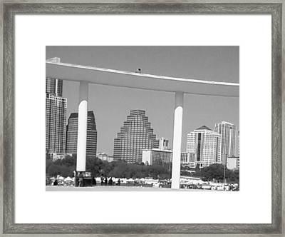 Austin Skies Framed Print by Krystyn Lyon