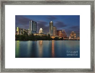 Austin Skyline 1 Framed Print by Richard Mason