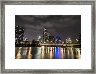 Austin Skyline At Night  Framed Print