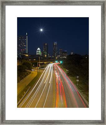 Austin Images - Downtown And Caesar Chavez 2 Framed Print by Rob Greebon