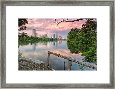 Austin Skyline From Lou Neff Point Framed Print