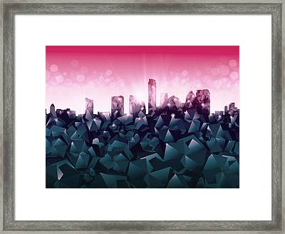 Austin Skyline Geometry 2 Framed Print