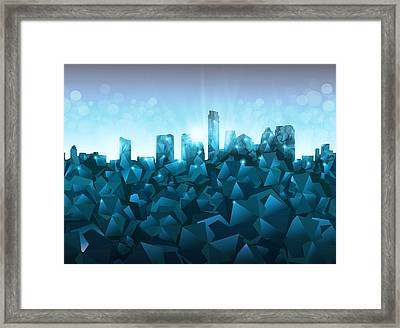 Austin Skyline Geometry 3 Framed Print