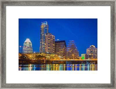Austin Skyline Framed Print by Inge Johnsson