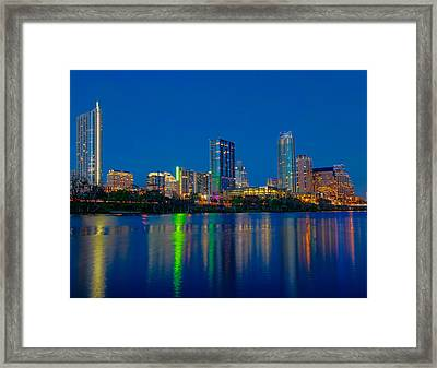 Framed Print featuring the photograph Austin Skyline by Tim Stanley