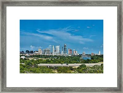 Austin Skyline  Framed Print by Tod and Cynthia Grubbs