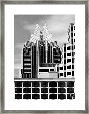 Austin Speaks In Black And White Framed Print